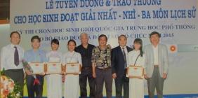 Đội tuyển HSG môn lịch sử Quảng Nam đạt tỉ lệ giải Quốc gia cao năm 2015