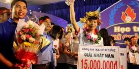 Hứa Nhật Minh đăng quang vô địch Học trò xứ Quảng mùa thứ IV