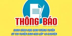 Quyết định phê duyệt danh sách trúng tuyển vào lớp 10 Trường THPT chuyên Nguyễn Bỉnh Khiêm năm học 2020-2021