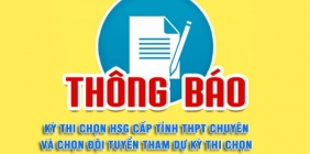 Tổ chức Kỳ thi chọn HSG cấp tỉnh THPT chuyên và chọn đội tuyển tham dự kỳ thi chọn HSG quốc gia năm 2021